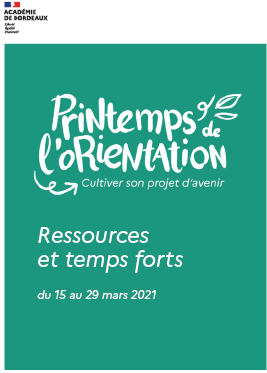 Catalogue printemps de l'orientation